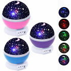Baby Kids Constellation Night Light Lamp Moon Star Sky Projector Rotating Cosmos