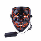 Halloween Cosplay Led Costume Mask Wire Light Up The Purge Movie Scary Mask US