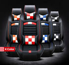 NEW Deluxe Full Set 5 Seat Car Cover Sets PU Front+Rear Cushion With  Pillows $152.99 USD on eBay
