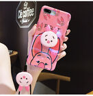 Cute Pooh Piglet Pop Holder Stand Lanyard Case Cover for iPhone XS Max XR 7 8+