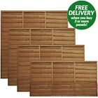 Wooden Garden Waney Edge Lap Fence Panels Overlap Fencing Panel 6ft 5ft 4ft 3ft