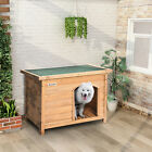 Dog Kennel House Large Wooden Puppy With Removable Floor Rainproof Easy Clean UK