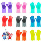 2PCS Magic Silicone Rubber Dish Washing Gloves Eco-Friendly Scrubber Cleaning