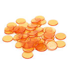 50pcs 1.5cm count bingo chips markers for bingo game plastic poker chips Lw
