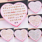 Uk 36 Pairs Pearl Rhinestone Crystal Ear Stud Earrings Women Fashion Jewelry Set