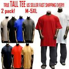 Big and Tall TEE Men Heavy Weight Plain S S T shirts Crew Neck Solid 2 pack