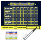 Re-usable Bedtime Reward Chart (Includes star stickers & pen)