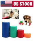 Pet Dog Cat Self Adhesive Bandage Gauze Roll Adherent Tape Elastic First Aid Kit