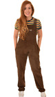 Run & Fly women's/men's oversized corduroy dungarees in brown and black and wine