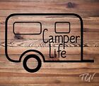 Camper Life Camping Vinyl Decal Sticker • Great for: Vehicle Windows, Tumblers