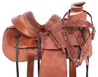 Rough Out Roping Ranch Work Trail A Fork Western Leather Horse Saddle Tack Used