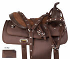 Brown Cordura Synthetic Barrel Racer Trail Round Skirt Western Horse Saddle Tack