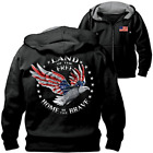 Bradford Exchange Home Of The Brave Hoodie With Patriotic Eagle Art