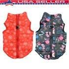 Pet Small Cat Dog Coat Clothing Cartoon Soft Padded Vest Harness Puppy Clothes