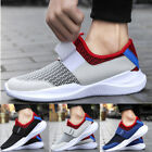 Sneakers Mens Tennis Shoes Low Top Flex Strap Mesh Knit Collar Breathable Casual