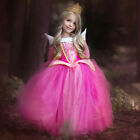 Kids Girls Disney Princess Belle Elsa Anna Fancy Dress Cosplay Tulle Tutu Dress