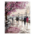 Multicolor Cherry Blossoms Ink Canvas Oil Painting Wall Art Home Bedroom Decor