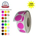 Sticker Labels 3/4 Inch 19mm Color Coding Dots Rolls Writable Surface 1050 Pack