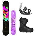 2019 FLOW Pixi 151 Women's Snowboard+Flow Bindings+BOA Boots NEW 4 YR WARRANTY