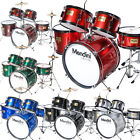 Mendini 5 pcs Child Junior Drum Set +Cymbal+Throne ~Black Blue Red Green Silver