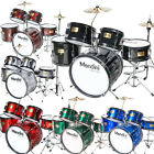 Mendini 5 Pcs Child Junior Drum Set  cymbal throne ~black Blue Red Green Silver