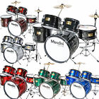 Kyпить Mendini 5 pcs Child Junior Drum Set +Cymbal+Throne ~Black Blue Red Green Silver на еВаy.соm