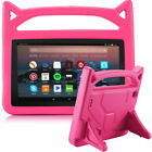 For Amazon Kindle Fire HD 8 2018 8th Gen Kids Shockproof Handle Stand Soft Case