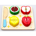 Kids Wooden Kitchen Fruit Vegetable Food Pretend Role Play Cutting Set Toys