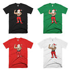 Men's Short Sleeve Casual T-shirt For Christmas SANTA POSING
