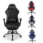 Gaming Chair Racing Seat Recliner Adjustable Executive High Back w/Footrest