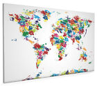 Map of the World Painting Box Canvas and Poster Print (225)