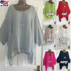 Plus Size S-5XL Women Cotton Linen Batwing Sleeve Casual T Shirt Tops Blouse USA