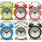 Portable Mini Travel Alarm Clock Round Number Desk Bed Clocks Kids Bedroom Home