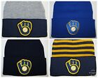 Milwaukee Brewers Beanie ~Knit Cap ~Hat ~CLASSIC MLB PATCH/LOGO ~3 Colors~NEW