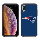 For Apple iPhone XS Max - ShockProof Official NFL Pebble Grain Hybrid Cover Case