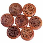 Handmade Rosewood Wooden Buddha Hollow Box Incense Burner Coil Incense Plate cheap