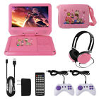 Portable CD DVD Player 9 Inch Travel Entertainment Set Kids Car Video Headphones
