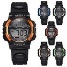 Men Chronograph Waterproof Military Digital Watches Rubber Band Sport Wristwatch