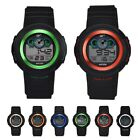 Men Waterproof Silicone Band Electronic Digital Watch Chronograph Wristwatch New