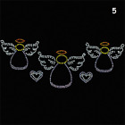 christmas/winter rhinestone,sequin designs various styles&sizes-3 angels