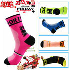 pair Men Women Riding Cycling Sports Socks Unseix Breathable Bicycle Footwear CD