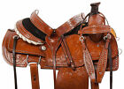 Ranch Roper Saddle 15 16 Western Pleasure Trail Work Chestnut Leather Horse Tack