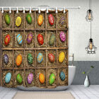 Easter Egg Decoration Curtain Shower Bathroom Decor Fabric 12hooks 71x71inches