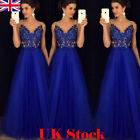 Women Lace Formal Evening Ball Party Cocktail Dress Prom Bridesmaid Wedding Gown