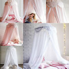 Kids Bedding Round Dome Canopy Play Tent Cotton Mosquito Net Curtain Room Decor image