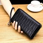 RFID Women Leather Long Zipper Wallet Card Holder Clutch Large Capacity Purse