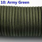 50-100 Feet 550 Paracord Parachute Cord Lanyard Mil Spec Type III 7 Strand Core