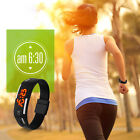 Women Lady's Sport Running LED Digital Waterproof Silicon Band Shockproof Watch image