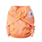 Happy Flute Organic Cotton Newborn AIO Cloth Diaper Double Gussets Reusable