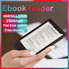 6'' Electronic Ink Screen Digital E-book Reader Built in 8GB Support 32G TF Card